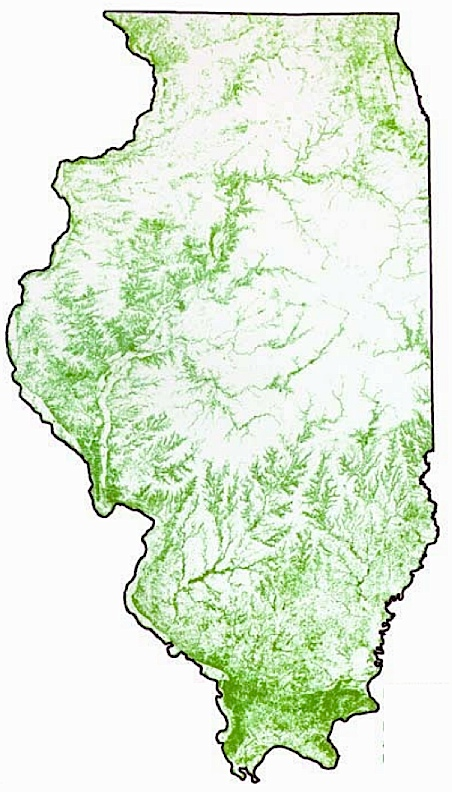 Illinois Forestry Association Map 2000 - Us-forest-cover-map