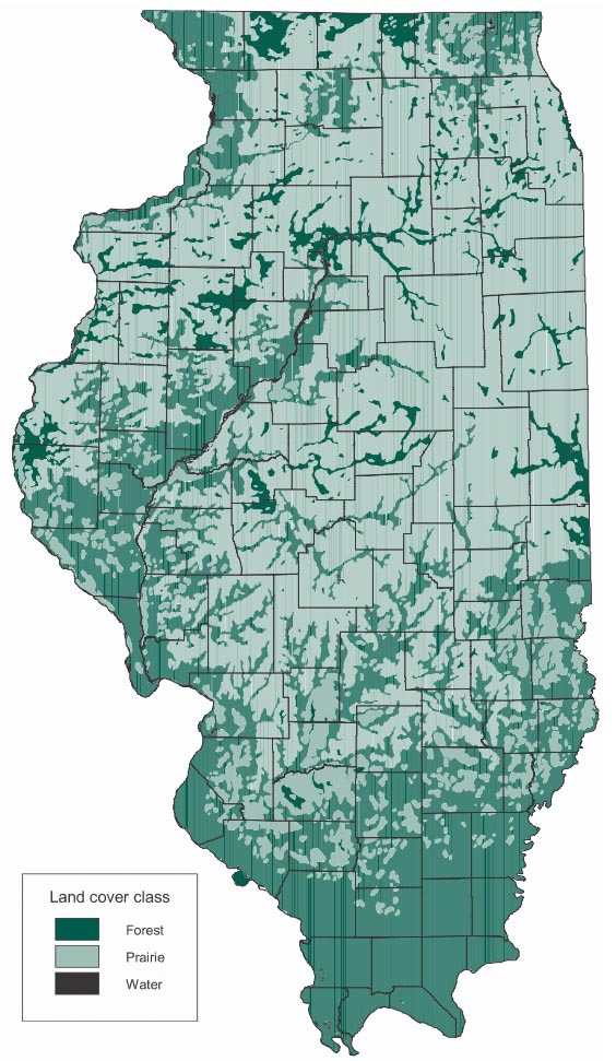 Illinois Forestry Association Map - Us forest map 1800s